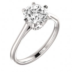 Coronet Solitaire Ring