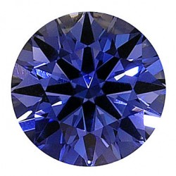 Example photo showing our H&A round cut, in a Kashmir blue