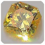 .68ct Fancy Vivid Orangy Yellow Flanders Takara Diamond
