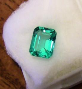 Avarra Lab Grown Colombian Emerald - Customer Photo