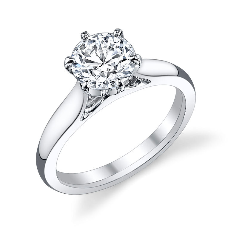 6623720fe Tiffany Cathedral Solitaire. Top view, 7.5mm Asha center