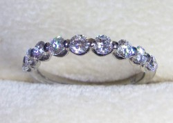 Timeless Floating Half Eternity Band