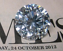 25.38ct H&A Round Natural Diamond - HPHT Enhanced