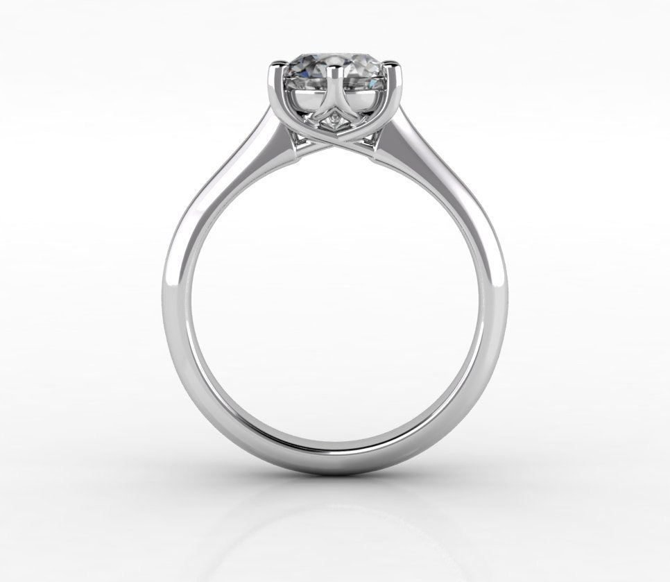 Timeless Trellis 6 Prong Solitaire Ring