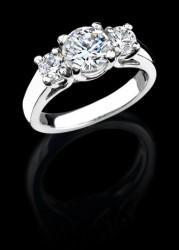 Trellis 3 Stone Round Ring