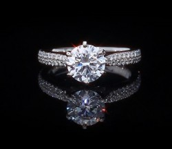 Timeless 2 row Micropave Cathedral Ring